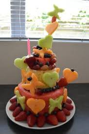 watermelon and fresh fruit birthday cake birthday party ideas