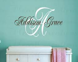 Personalized Nursery Wall Decals Open Creations Etsy