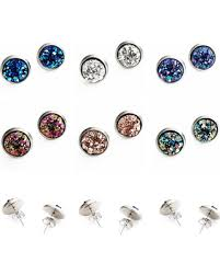 check out these hot deals on hypoallergenic earrings faux druzy