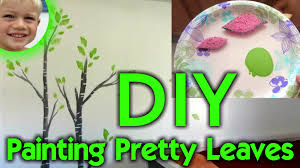 diy leaf painting beautiful tree wall art for kid u0027s bedroom