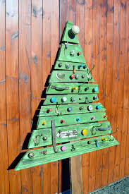 diy modern woodentmas tree steps pattern lights wood