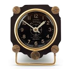 desk clock altimeter airplane instrument table clock aviation desk clock