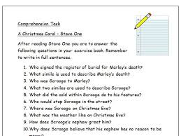 a christmas carol comprehension questions stave by stave by