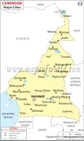 France Map With Cities by Cameroon Cities Map Major Cities In Cameroon
