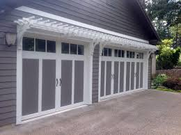 garage doors over the garage door trellis pergolatrellisits