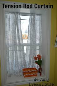 Curtain Hanging Hardware Decorating Best Tension Rod Curtains Ideas On Pinterest Kitchen Curtain