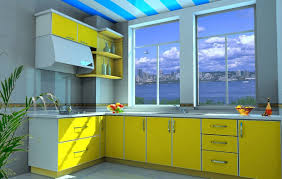 Yellow Kitchen Paint by Good Color For Small Kitchen With Yellow And Gray Color Schemes