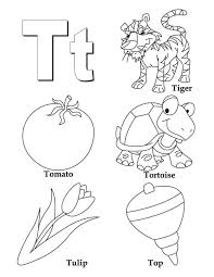 words of t alphabet coloring page alphabet coloring pages of