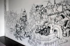 beautiful romantic bedroom designs with graffiti wall art and