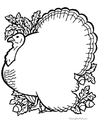 coloring pages of thanksgiving turkeys funycoloring