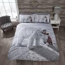 Double Duvet Cover Sets Uk Anoushka Christmas Polar Bear Quilt Tonys Textiles