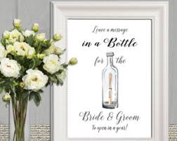 Diy Message In A Bottle Message In A Bottle Sign Printable Wedding Message In A