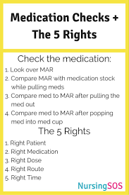 medication checks the five rights of medication administration