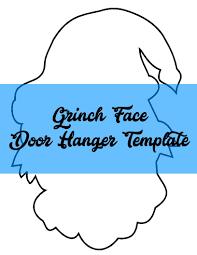 grinch face door hanger template door hanger templates