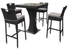 Garden Bar Table And Stools Rattan Bar Stool Stunning Height Table Stools Target Black With