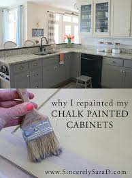How To Antique Kitchen Cabinets With White Paint Why I Repainted My Chalk Painted Cabinets Chalk Paint Cabinets