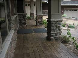 Decorative Concrete Pillars Stamped Concrete That Looks Like Hardwood Flooring So Cool And I