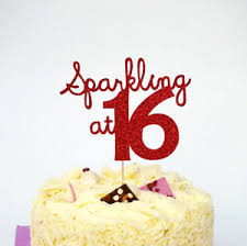 16 cake topper 16th birthday cake topper sparkly at 16 sweet 16 cake topper ebay