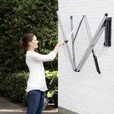 wallfix indoor outdoor folding clothesline clotheslines com