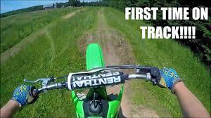 2 stroke dirt bike on backyard motocross track youtube