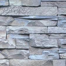 modern design chinese retro 3d effect grey brick wallpaper vintage