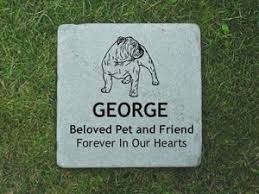 grave marker bulldog grave marker stones personalized bulldog memorial stones
