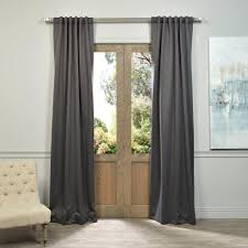 108 Inch Long Blackout Curtains by Exclusive Fabrics U0026 Furnishings Semi Opaque Anthracite Grey