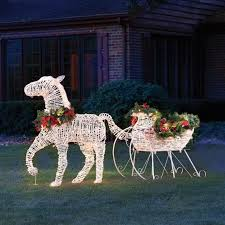 peacock lawn decorations outdoors lighted