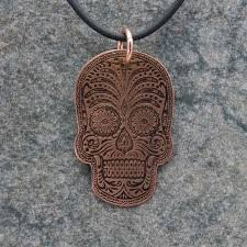 copper jewelry necklace images Copper jewelry sugar skull pendant tom 39 s foolery chainmaille jewelry jpg