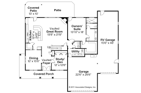 House Plans With Vaulted Great Room by Traditional House Plans Claredon 30 564 Associated Designs