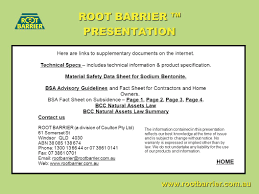 root barrier presentation version waterproof flexible ppt download