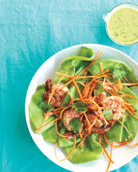 green salad for thanksgiving shrimp salad recipes that will amp up your greens martha stewart