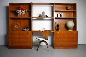 Danish Mid Century Modern Desk by 70 U0027s Danish Mid Century Modern Wall Unit In Teak U2013 Abt Modern