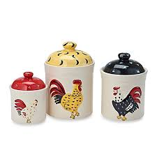 rooster canisters kitchen products home essentials beyond rooster embossed canisters set of 3