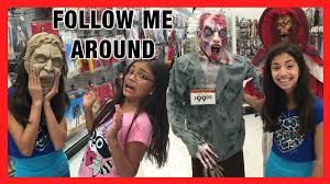 follow me around halloween city halloween store vlog youtube
