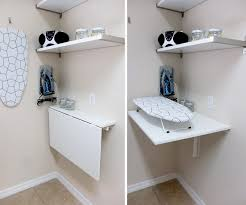 Laundry Bathroom Ideas by The Norberg Wall Mounted Folding Table Gives Extra Workspace When
