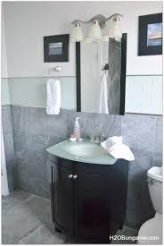 Creative Small Bathroom Ideas Creative Small Bathroom Remodel With Slate And Glass Tile Hometalk