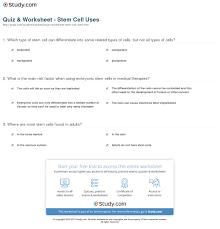quiz u0026 worksheet stem cell uses study com