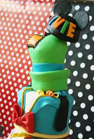 topsy turvey layer disney character birthday cake disney