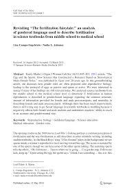 Neutral Connotation Revisiting U201cthe Fertilization Fairytale U201d An Analysis Of Gendered