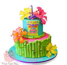 Luau Cake Decorations Tiki Birthday Cake Birthday Cakes