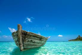 tropical island paradise perfect tropical island paradise beach and old boat stock image