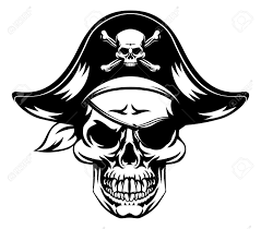 an illustration of a pirate skull wearing a pirate captains hat