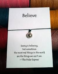 polar express bell make a wish bracelet by hoomedesigns on etsy