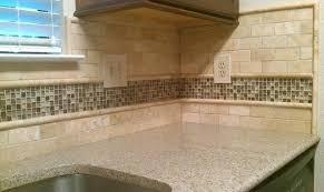 glass kitchen backsplash ideas travertine subway tile backsplash alund co
