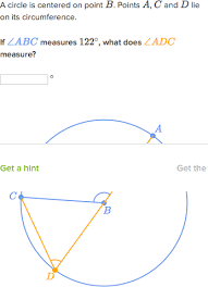Definition Of Interior Angles Inscribed Angle Theorem Proof Article Khan Academy
