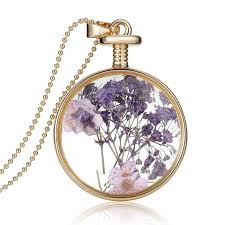 bottle necklace aliexpress images Plant diy locket dried flower bottle glass locket necklace free jpg