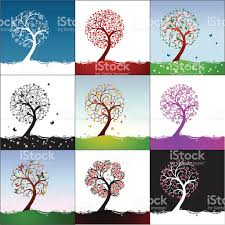 different types of trees different types of trees stock vector art more images of abstract