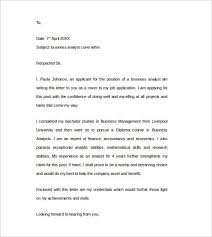 business analysis cover letter amitdhull co