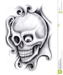 skull art tattoo stock illustration image 55355133